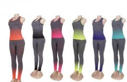 60 of Womens 2 Piece Tye Dye Workout Set