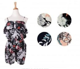 72 Units of Womens Romper Summer Casual Short Jumpsuit Adjustable Spaghetti Straps Sleeveless - Womens Rompers & Outfit Sets