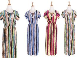 48 of Women's Short Sleeve Scoopneck A Line Dress
