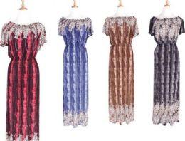 72 Units of Women Summer Short Sleeve Loose Casual Long Home Dress - Womens Sundresses & Fashion