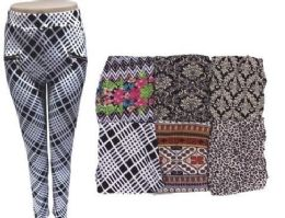 72 Units of Women Printed Pants With Zippered Pockets - Womens Pants