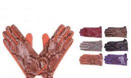 72 Units of Women's Warm Leopard Print Glove - Leather Gloves