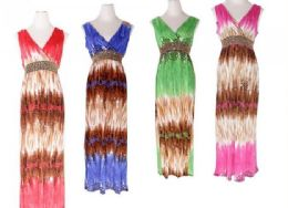 48 of Womens Fashion Sun Dresses Assorted Colors And Sizes Summer Dresses