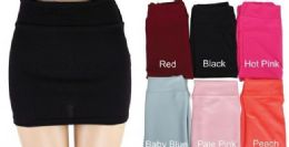 48 Units of Women's Casual Stretchy Bodycon Pencil Mini Skirt - Womens Skirts