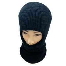 48 Units of Ski Face Cover One Hole Black Only - Unisex Ski Masks