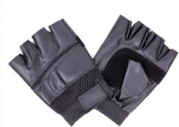 144 Units of Mens Leather Half Finger Glove - Leather Gloves