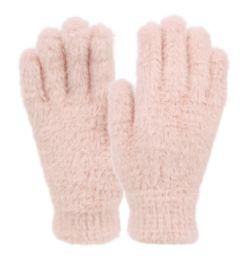12 Bulk Ladies Soft Fur Winter Glove In Assorted Color