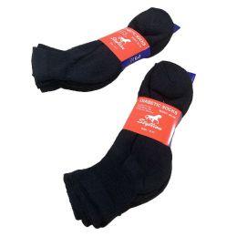 60 Units of Diabetic Quarter Sock In Black - Diabetic Socks