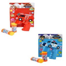 24 Units of Light Up Bubble Gun With Sound Safety Vehicle - Bubbles