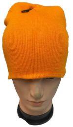 48 Units of Orange Winter Beanie - Winter Beanie Hats
