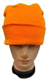 48 Units of Orange Color Winter Beanie - Winter Beanie Hats