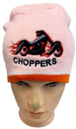 48 Units of Choppers Winter Beanie Hat In Pink - Winter Beanie Hats