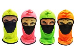 36 Units of Ninja Face Mask Neon Color - Unisex Ski Masks