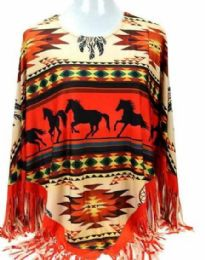 3 of Montana West Aztec Horse Collection Poncho