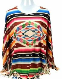 3 of Montana West Serape Collection Poncho