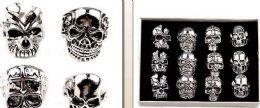 120 Wholesale Mens Skeleton Ring