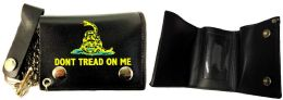 12 Units of Tri Fold Leather Wallet Don't Tread On me - Leather Wallets