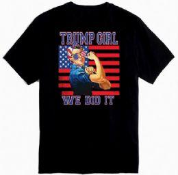 12 Units of Trump Girl Black Color - Mens T-Shirts