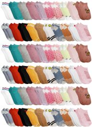 420 Units of Yacht & Smith Assorted Pack Of Girls Low Cut Printed Ankle Socks Bulk Buy - Girls Ankle Sock