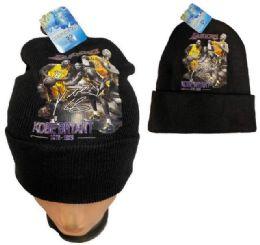 24 Units of Kobe Bryant Black Color Winter Beanie - Winter Beanie Hats