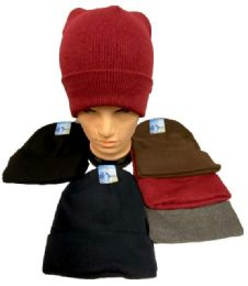72 Units of Assorted Solid Color Winter Beanie Hat - Winter Beanie Hats