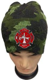 24 Units of Fire Department Camo Color Winter Beanie - Winter Beanie Hats