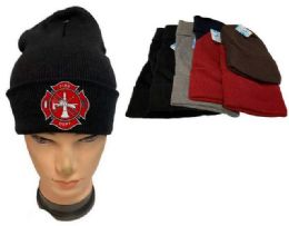 24 Units of Fire Department Mix Color Winter Beanie - Winter Beanie Hats