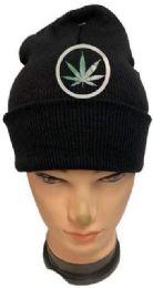 24 Units of Marijuana Winter Beanie Hat Black - Winter Beanie Hats