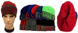 12 Units of Winter Hat With Plush Lining Inside - Winter Beanie Hats