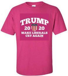 12 Units of Pink Color T Shirt Make Liberals Cry - Mens T-Shirts