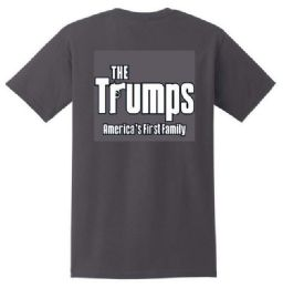 12 Units of Black T Shirt The Trumps In Grey - Mens T-Shirts