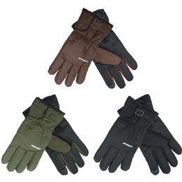 72 Bulk Men's Cold Weather Ski Gloves