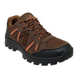 12 Units of Men's Lightweight Hiking Boots In Brown - Men's Footwear
