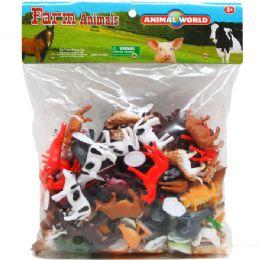 12 Wholesale Plastic Farm Animals In Poly Bag