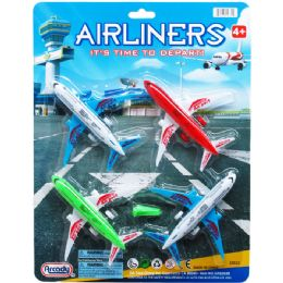 48 Units of Airliners Play Set On Blister Card - Cars, Planes, Trains & Bikes