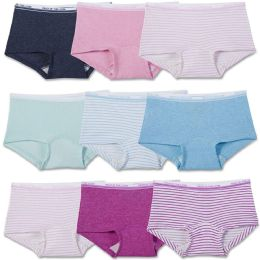 288 Units of Girls Fruit Of The Loom Boy Shorts Underwear Briefs And Panty Assorted Sizes 4-14 - Girls Underwear and Pajamas