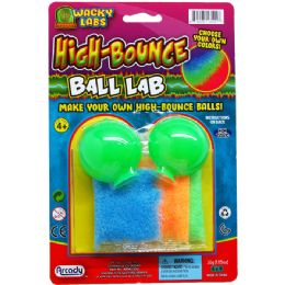 72 Units of High Bounce Ball Lab Kit On Blister Card - Novelty Toys