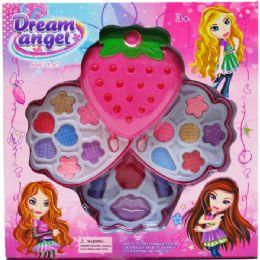 12 Units of Strawberry Shape Make Up Beauty Playset In Window Box - Girls Toys