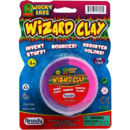 72 Units of Molding Wizard Clay On Blister Card - Slime & Squishees