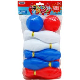 48 of Mini Bowling Play Set In Poly Bag