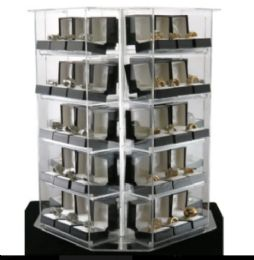 120 Wholesale Gift Box Rings Spinning Display Deal