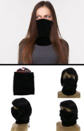 24 Units of One Size Fits Most Adjustable Fit Fleece Neck Gaiter - Unisex Ski Masks