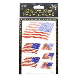 360 Units of American Flag Temporary Tattoos - Tattoos and Stickers