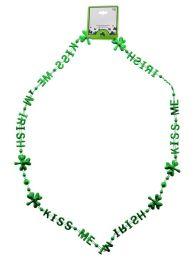 96 Units of Saint Patrick's Day Kiss Me I'm Irish Necklace - St. Patricks