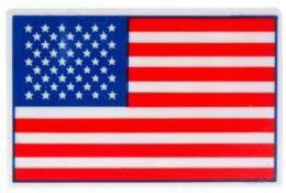 144 Wholesale Hard Plastic American Flag Pin