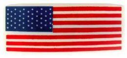 144 Wholesale Hair Barrette Rectangular Usa Flag Acrylic