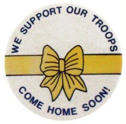144 Wholesale Patriotic Support Our Troops Pin