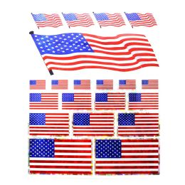 96 Wholesale Flag Stickers