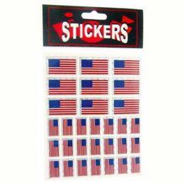 300 Wholesale Patriotic Flag Stickers