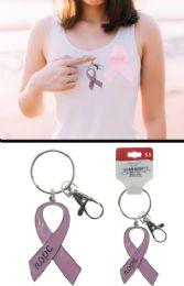 96 Units of Breast Cancer Awareness Ribbon Hope Keychain - Breast Cancer Awareness Socks